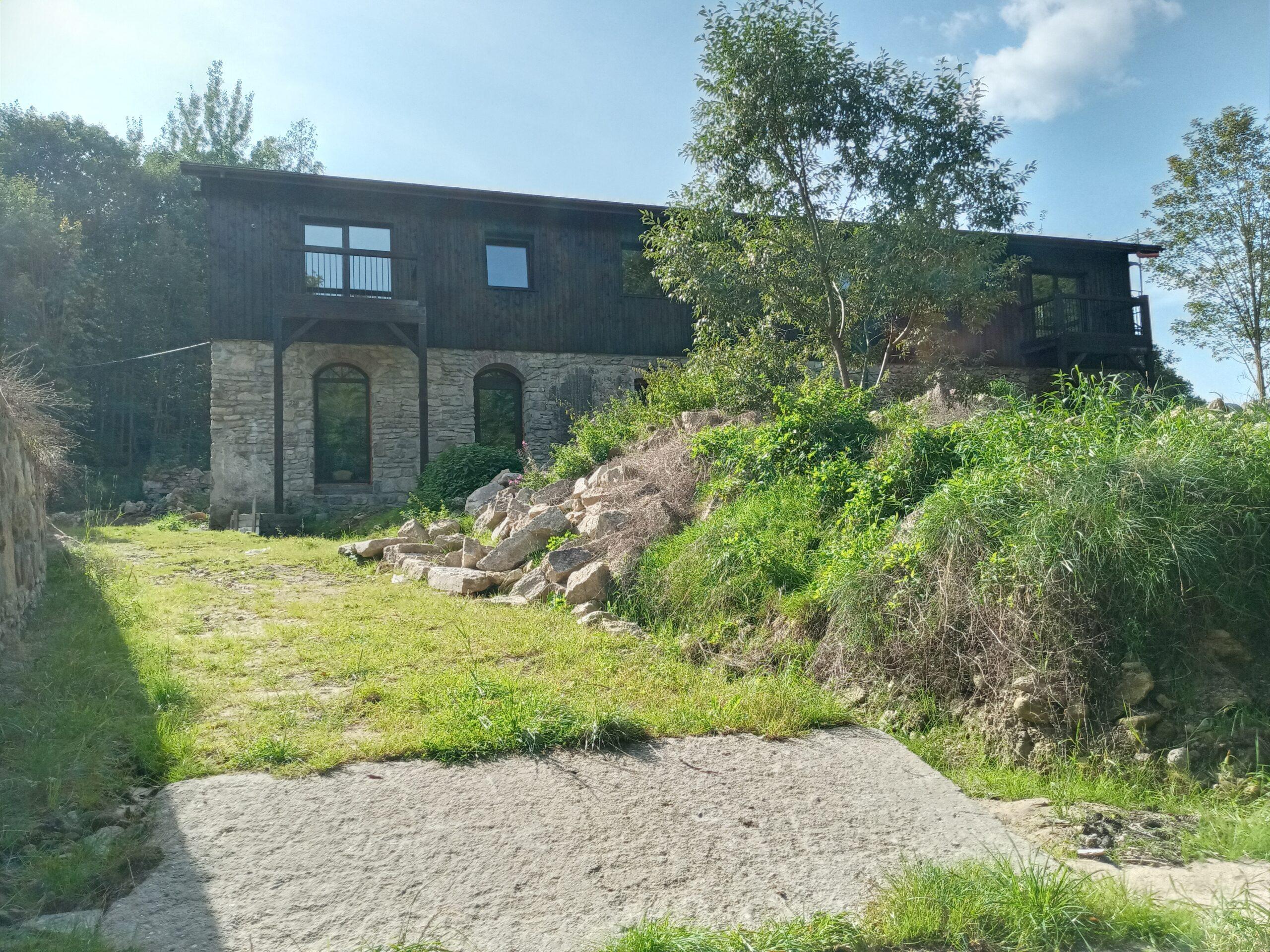 De achterkant van Villa Marleen